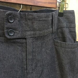 Banana Republic Black Denim Trouser sz 10L EUC